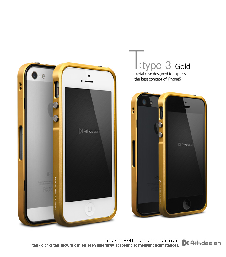 Iphone 5s Cases Gold T-type3 Aluminum Case Gold for