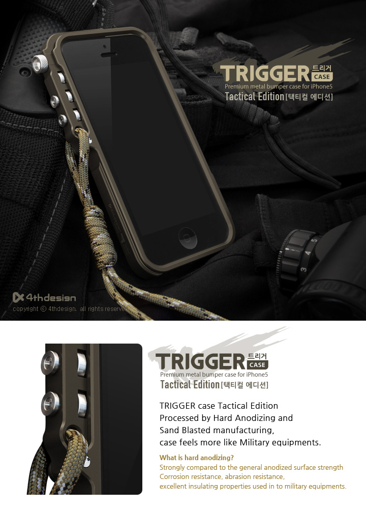 Trigger Aluminum Case Tactical edition for Apple iPhone 5 & 5S - Click Image to Close